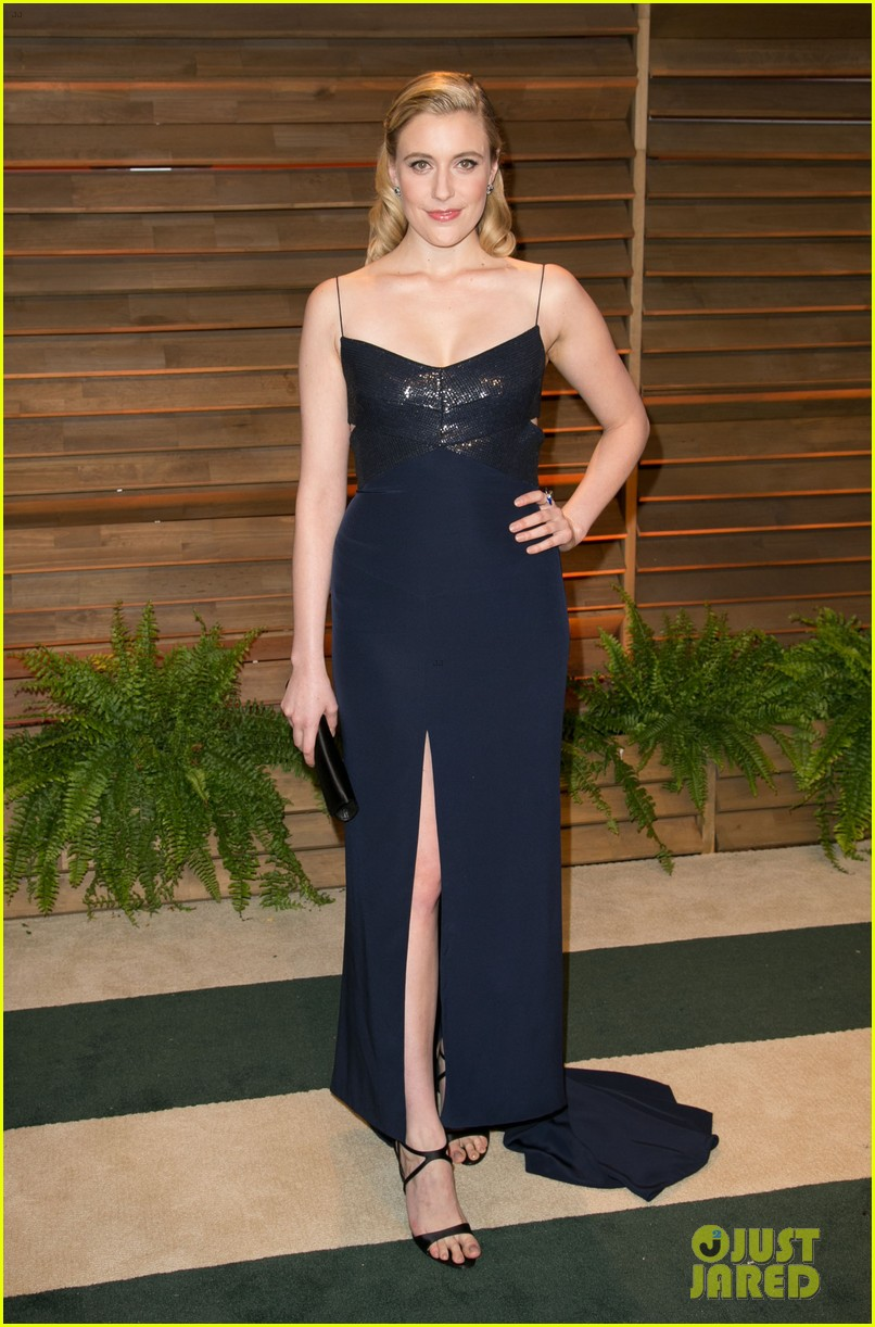allison williams greta gerwig vanity fair oscars party 2014 073064683