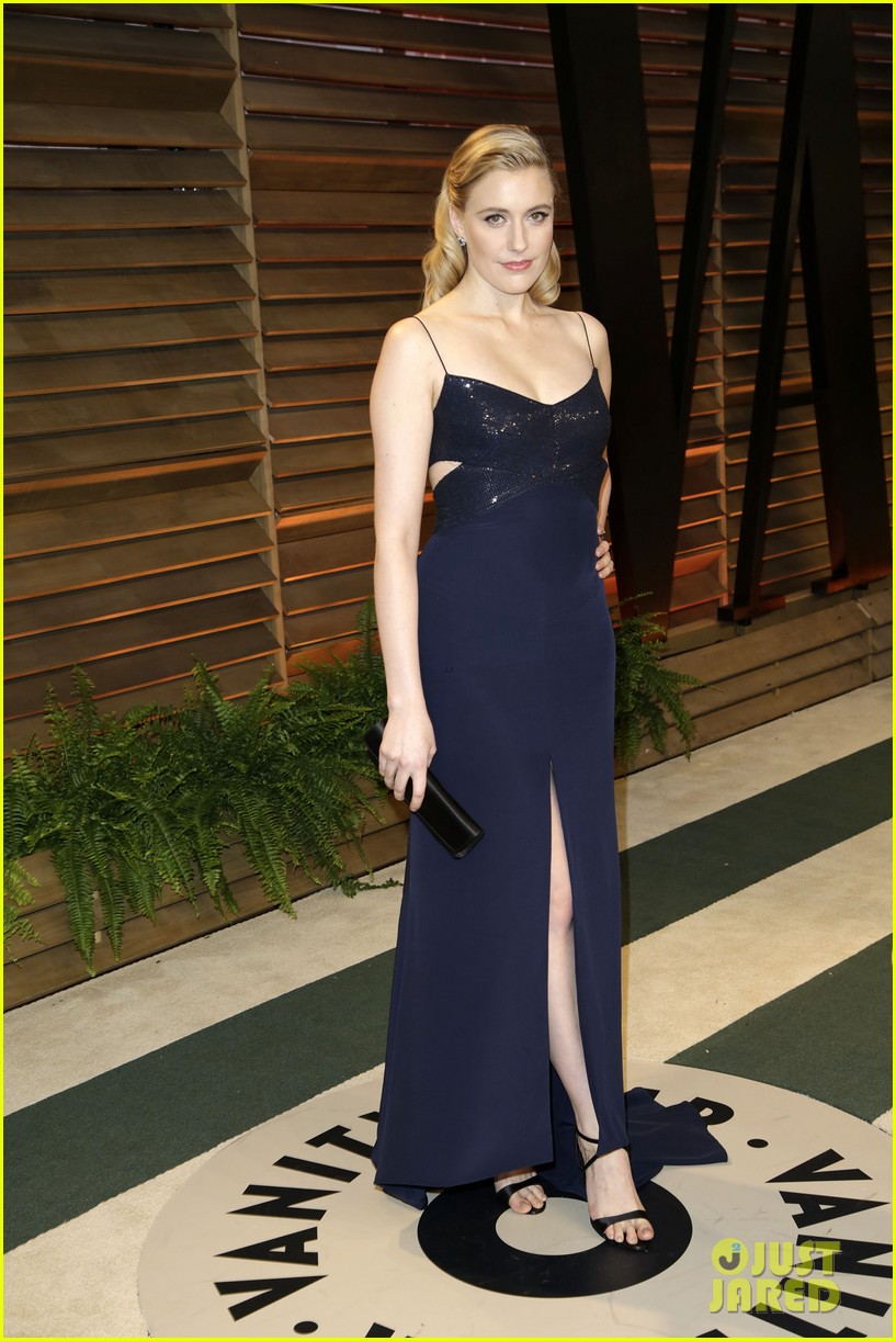 allison williams greta gerwig vanity fair oscars party 2014 13