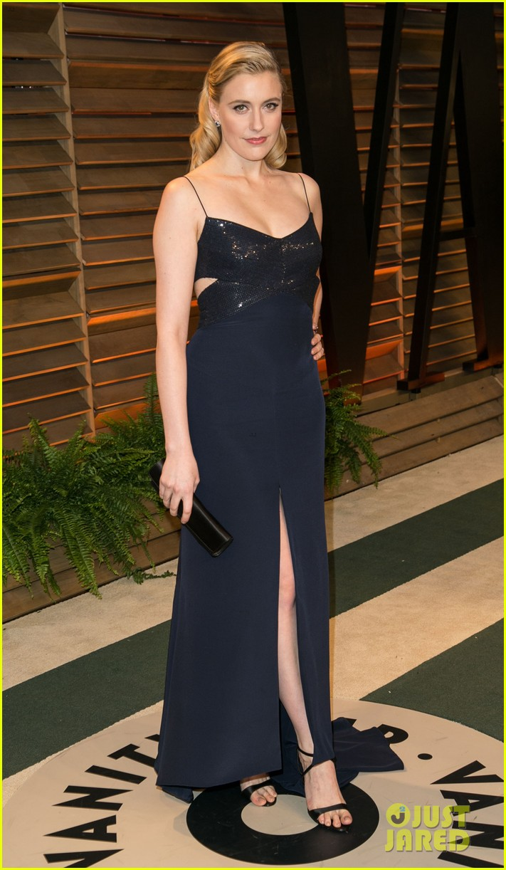 allison williams greta gerwig vanity fair oscars party 2014 143064690