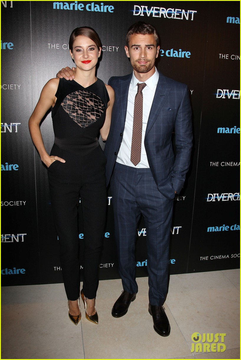 shailene woodley theo james divergent nyc screening 243075673