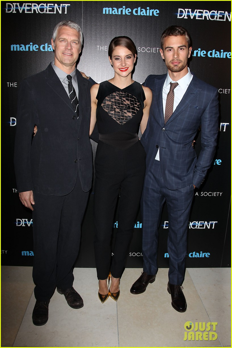 shailene woodley theo james divergent nyc screening 293075678