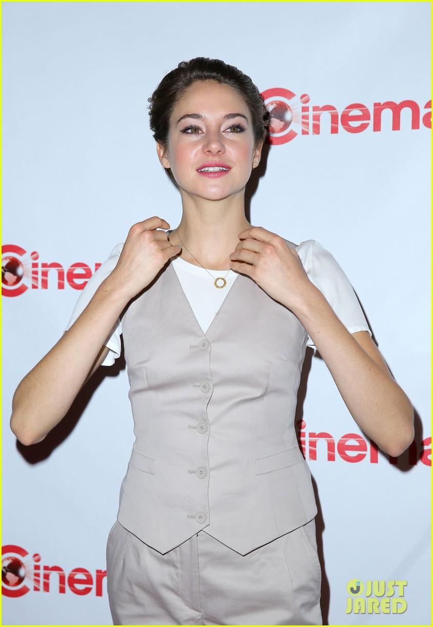 shailene woodley trades dress for slacks a vest at cinemacon 2014 023079842