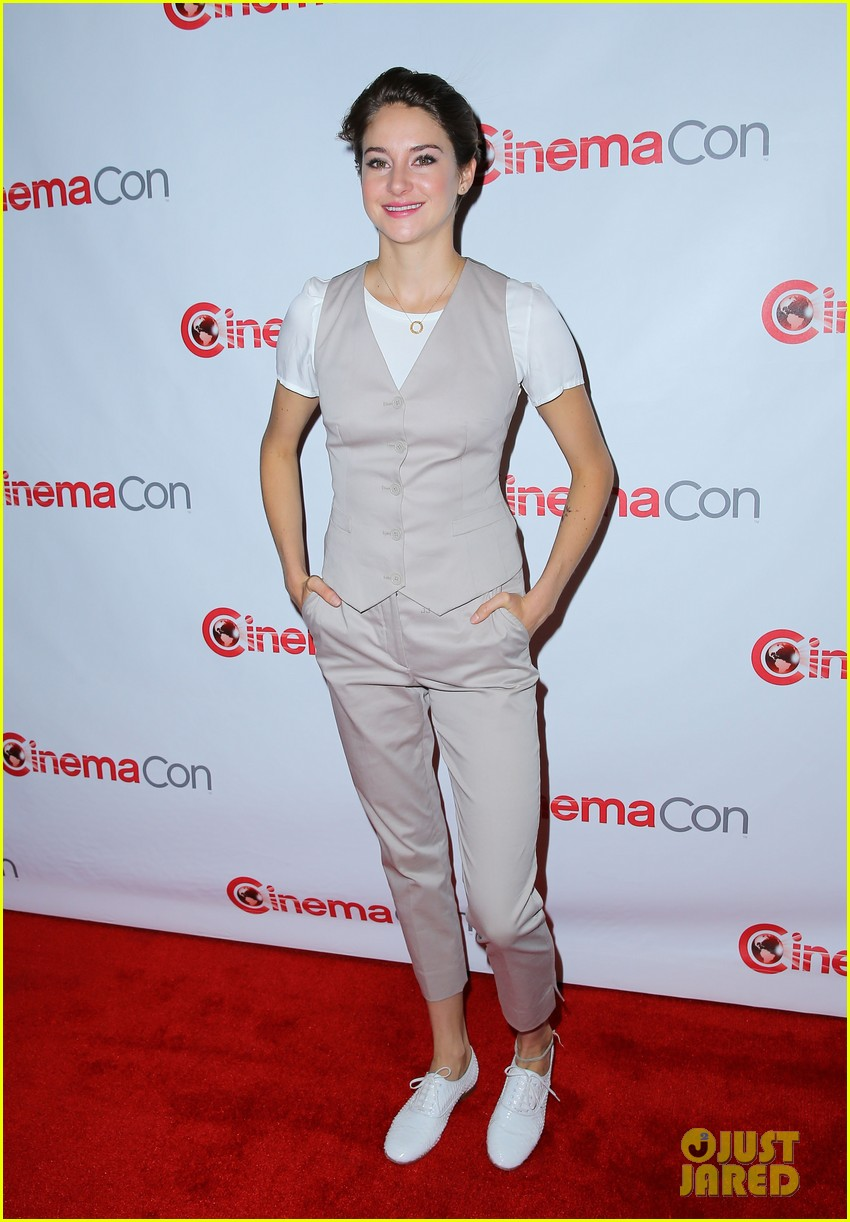 shailene woodley trades dress for slacks a vest at cinemacon 2014 073079847