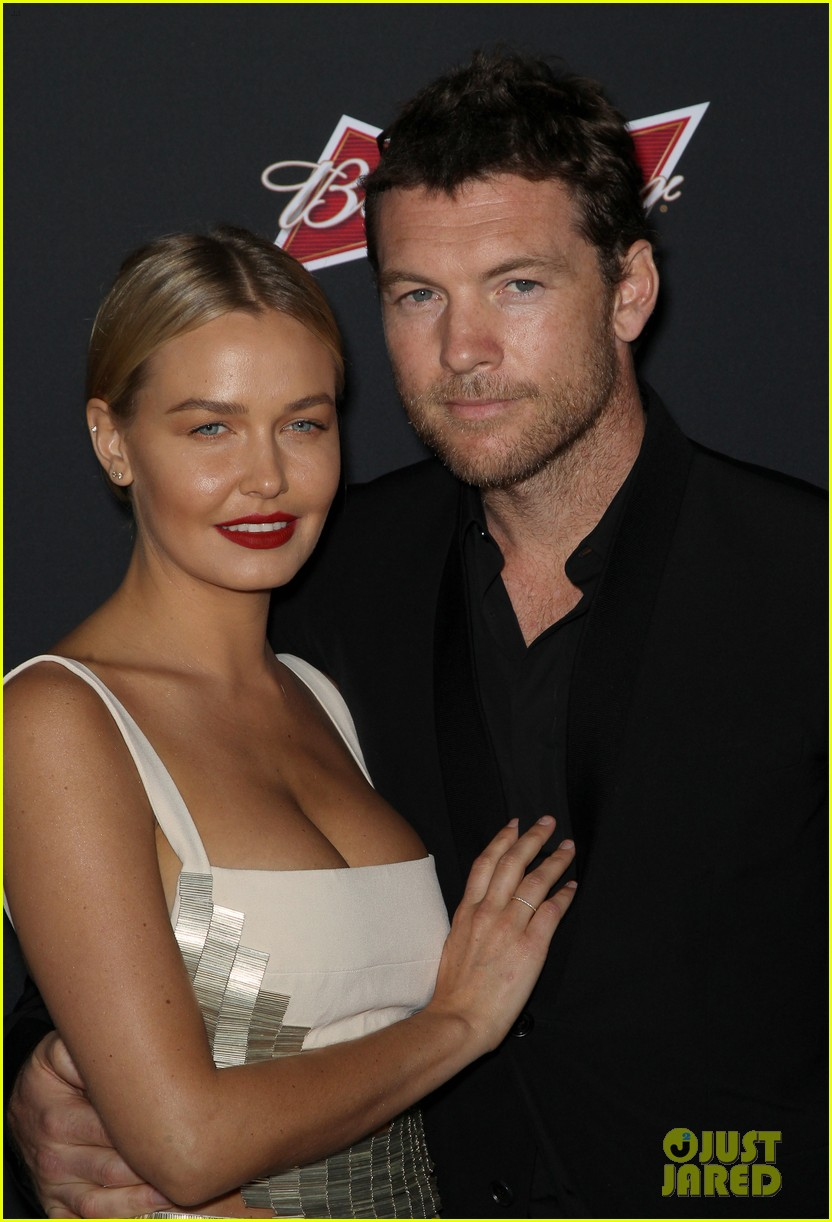 sam worthington lara bingle sabotage premiere 023075150