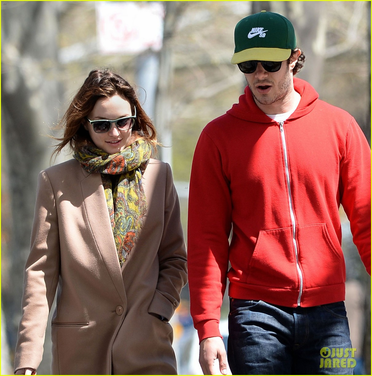 leighton meester adam brody first post marriage sighting nyc 033100386