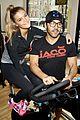 entourage jeremy piven nina agdal reunite for cycling fun 02