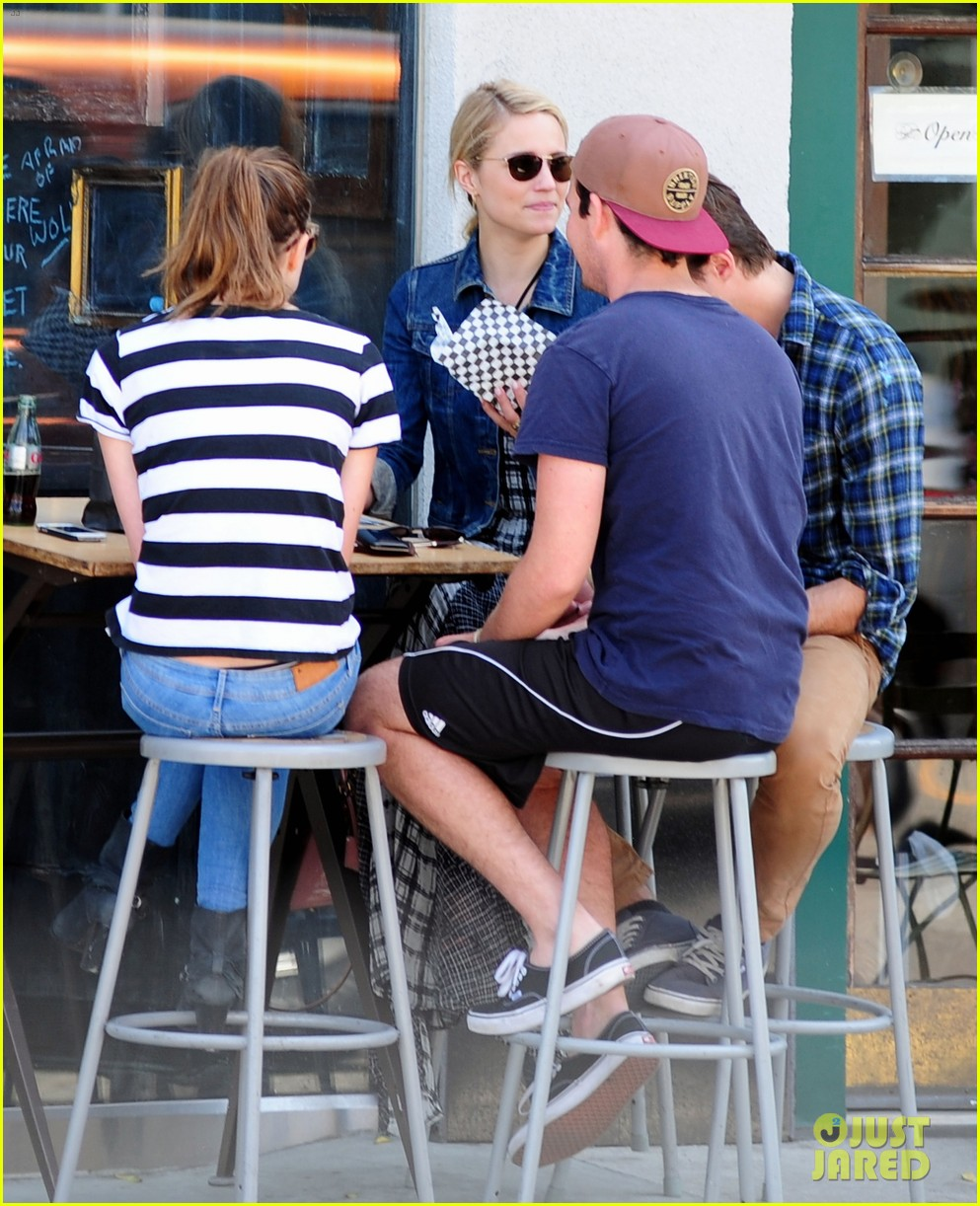 dianna agron gets cozy with thomas cocquerel at lunch 033097170