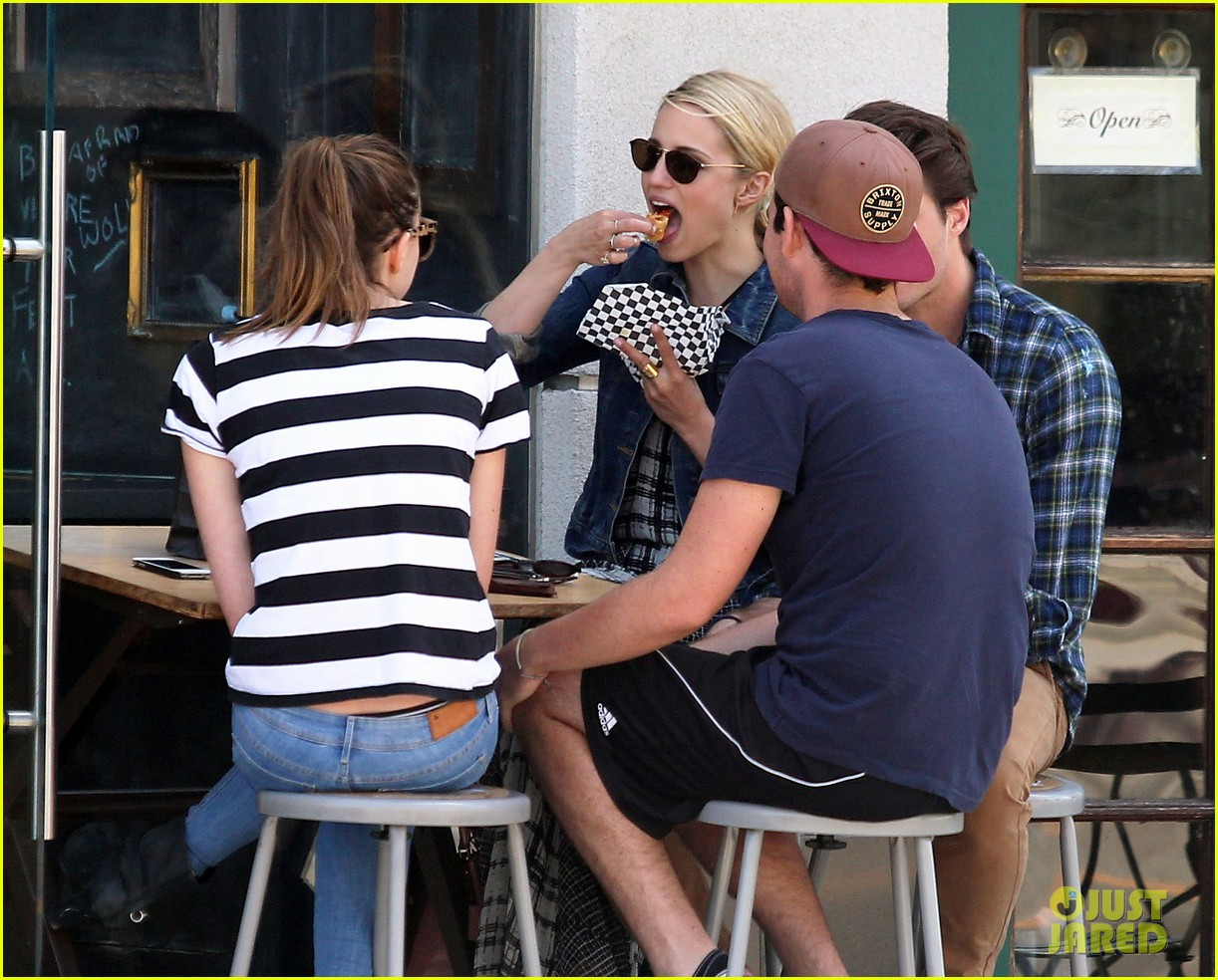 dianna agron gets cozy with thomas cocquerel at lunch 093097176