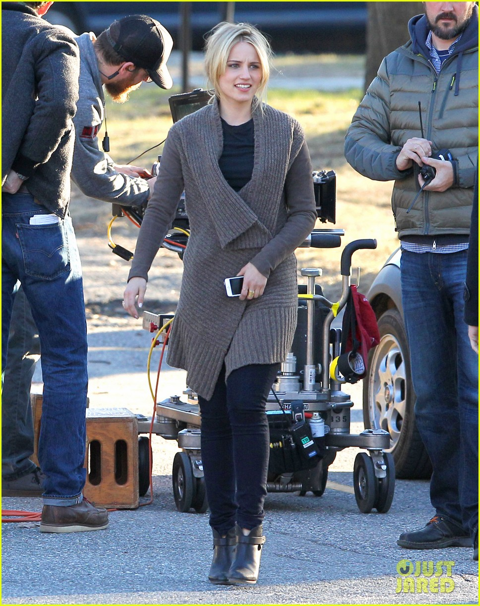 dianna agron first day on tumbledown has her in two cute outfits 06