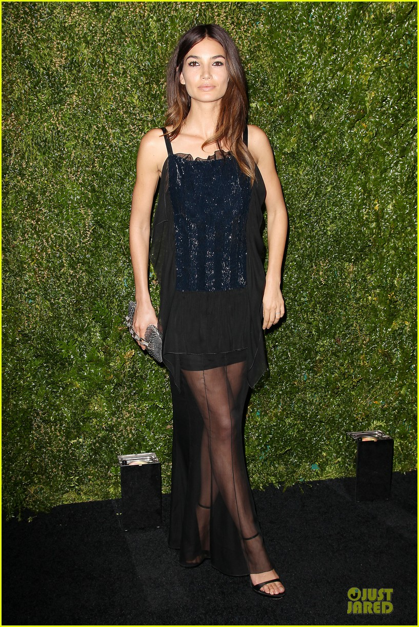 lily aldridge moore black at chanel dinner 013097099