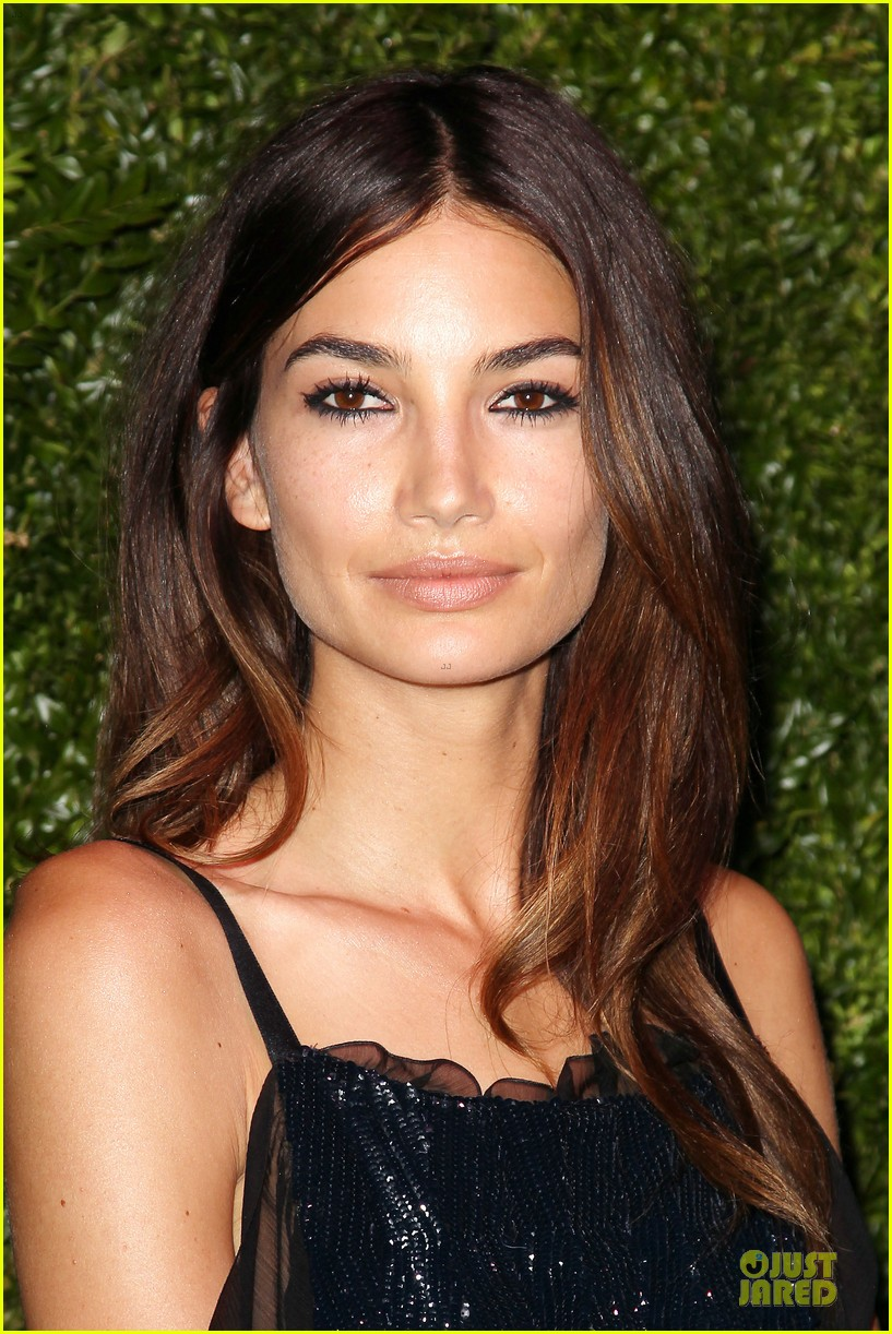lily aldridge moore black at chanel dinner 133097111