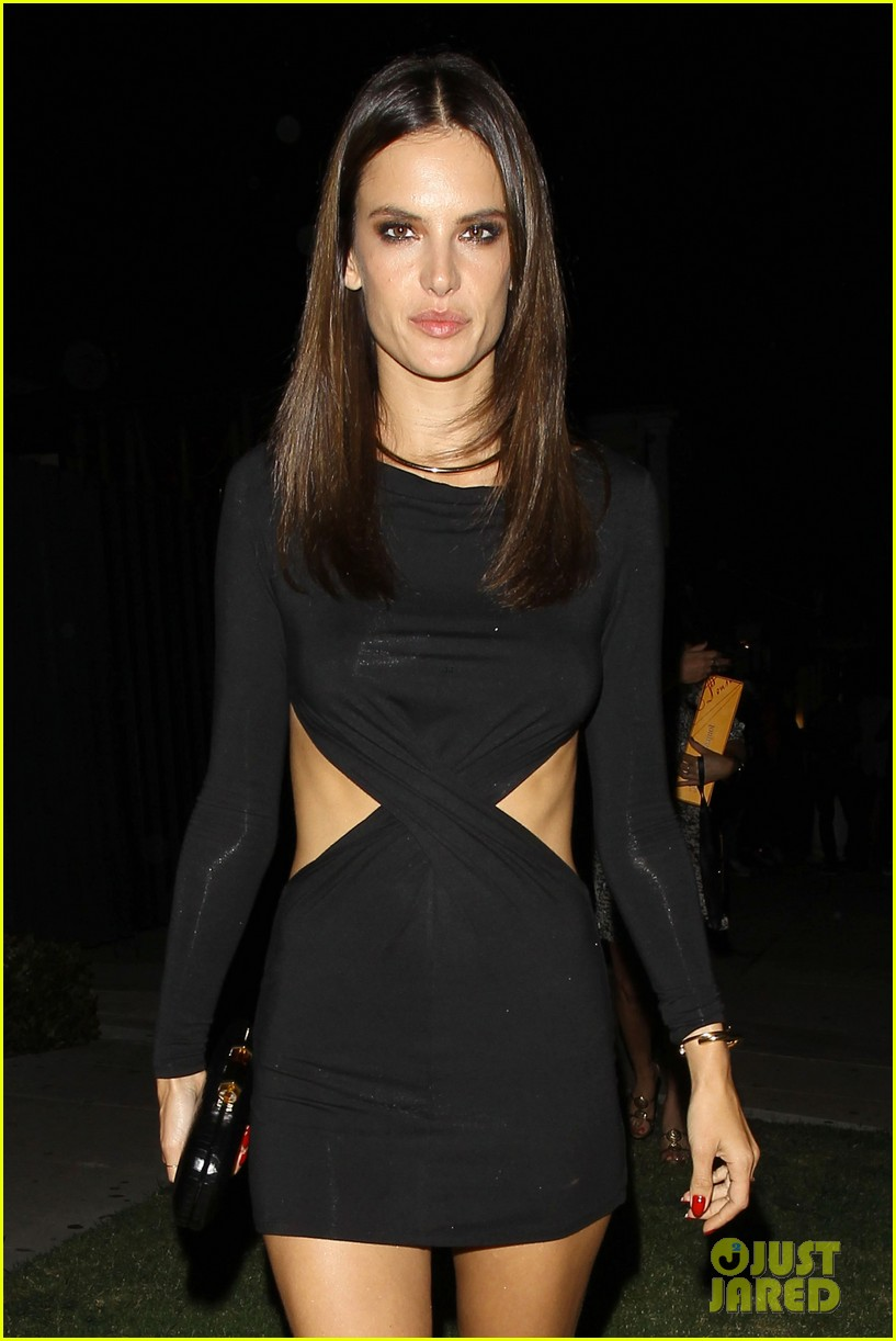 alessandra ambrosio sexy cut out dress 33rd birthday 043088952