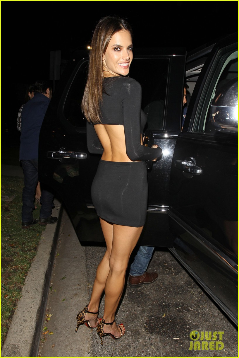 alessandra ambrosio sexy cut out dress 33rd birthday 053088953