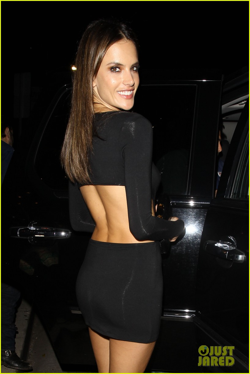 alessandra ambrosio sexy cut out dress 33rd birthday 063088954