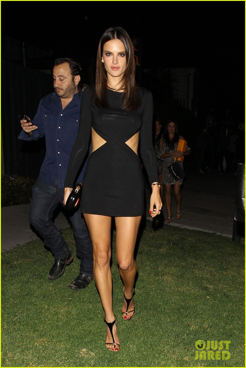 alessandra ambrosio sexy cut out dress 33rd birthday 133088961