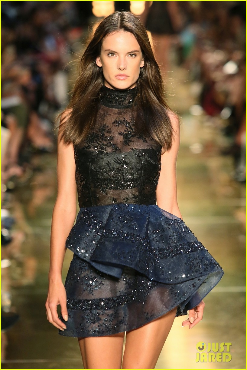 alessandra ambrosio hits the runway for alex perry fashion show 053086800