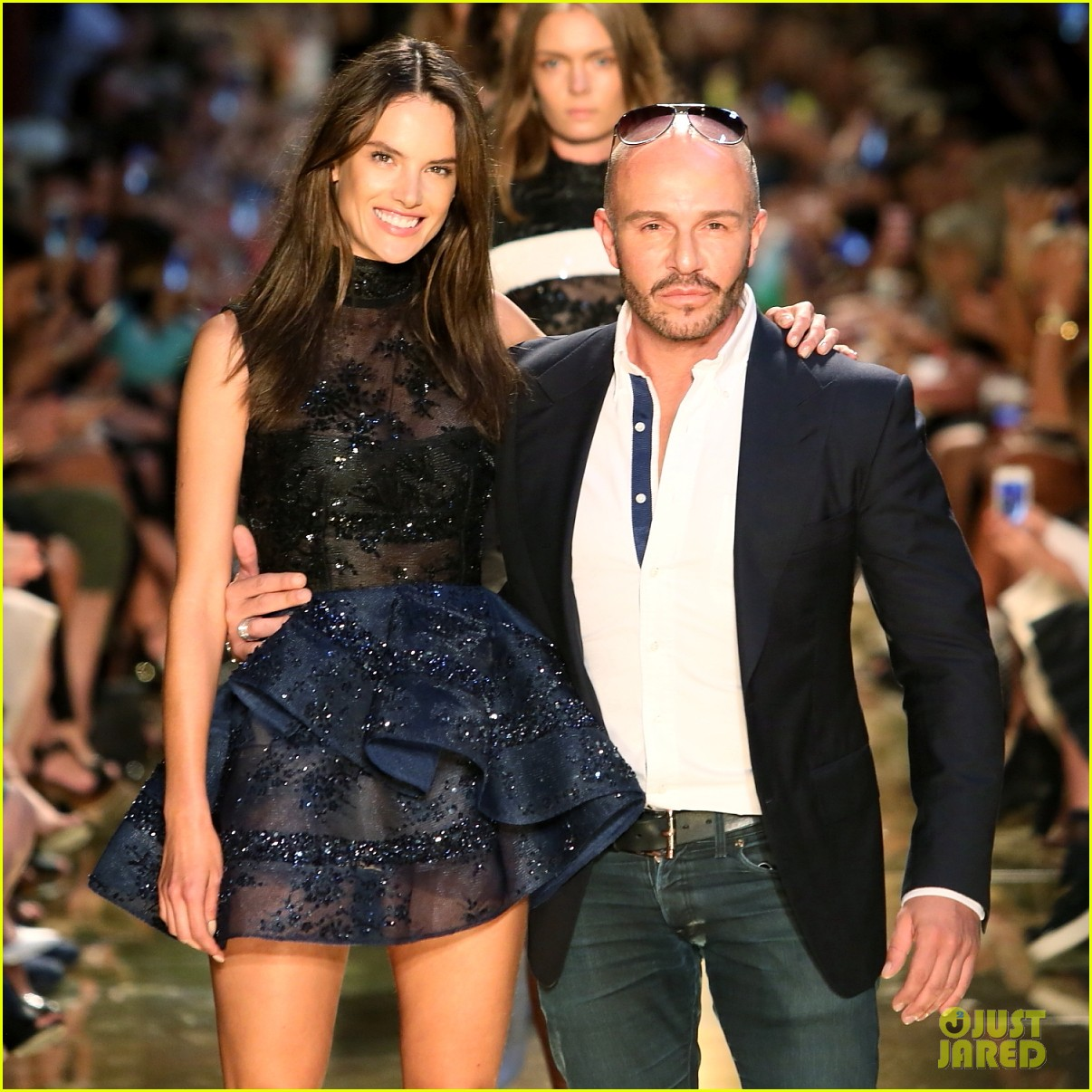 alessandra ambrosio hits the runway for alex perry fashion show 073086802