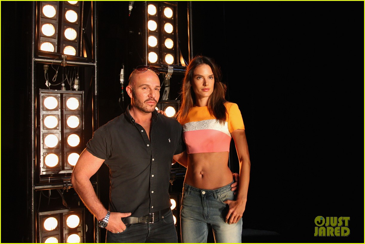 alessandra ambrosio hits the runway for alex perry fashion show 103086805