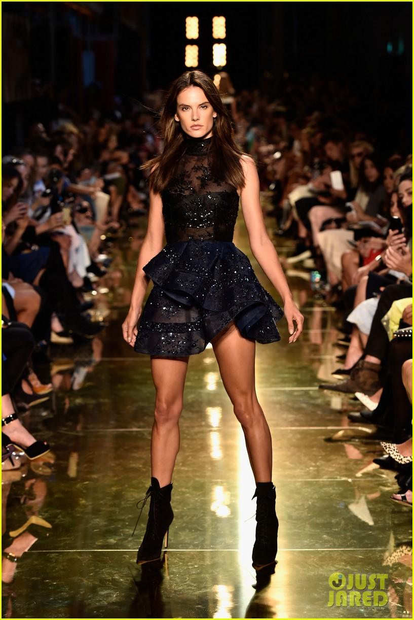 alessandra ambrosio hits the runway for alex perry fashion show 113086806