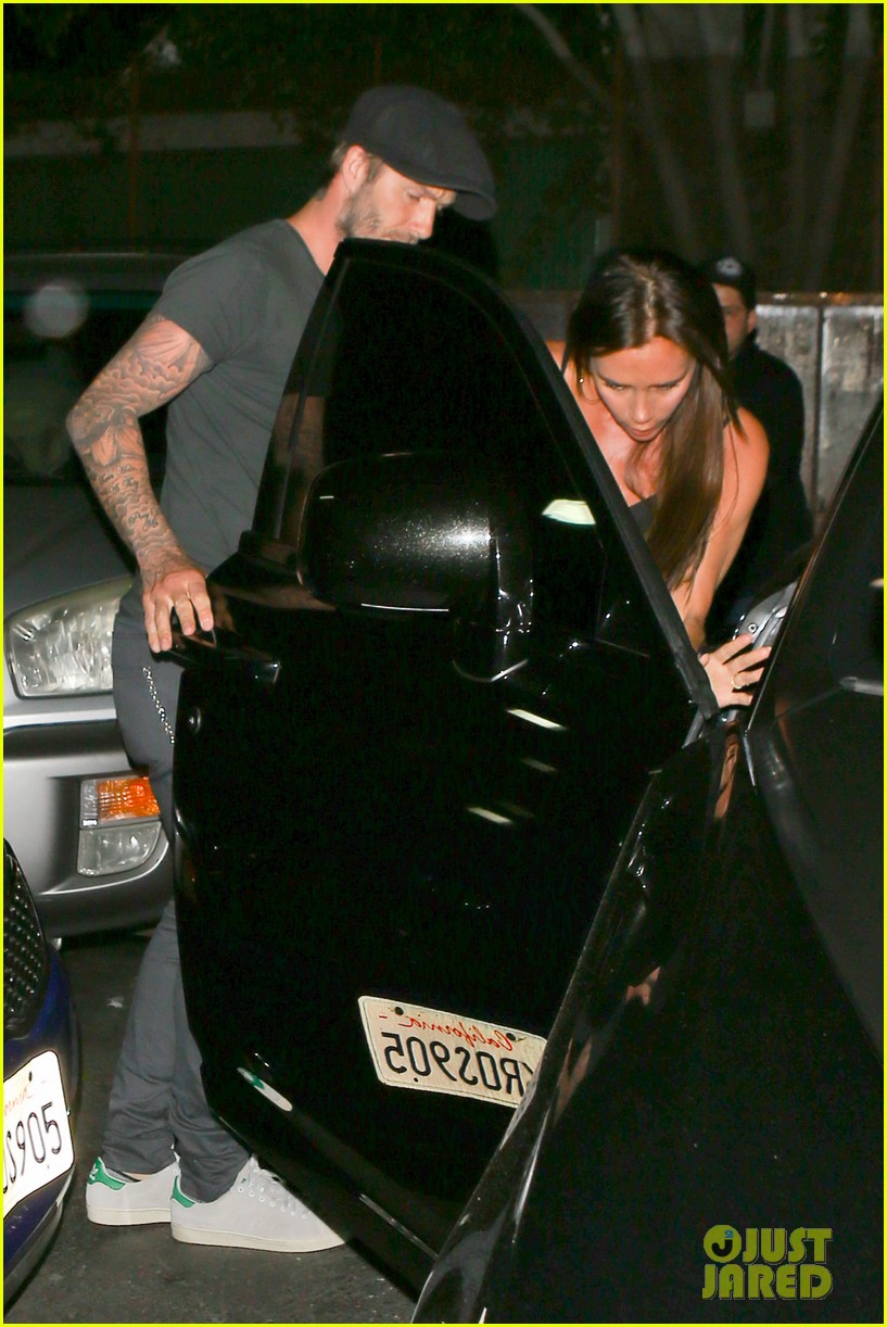 chivalry isnt dead for david beckham as he opens car door for victoria beckham 11