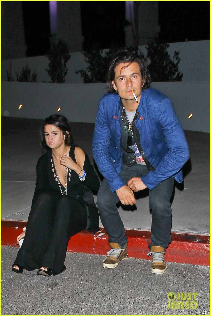 orlando bloom selena gomez spotted hanging out see the pic 013100774