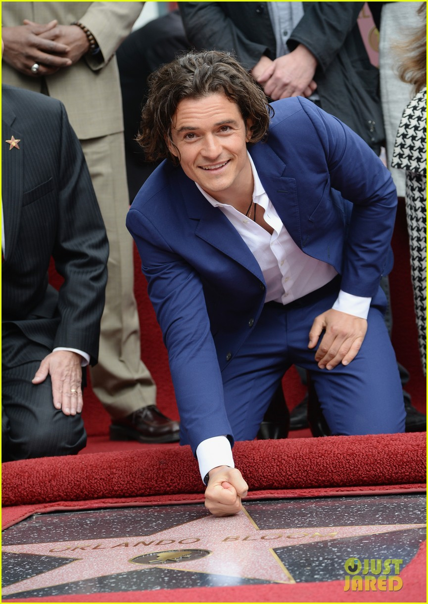 orlando bloom receives star on hollywood walk of fame 053083440
