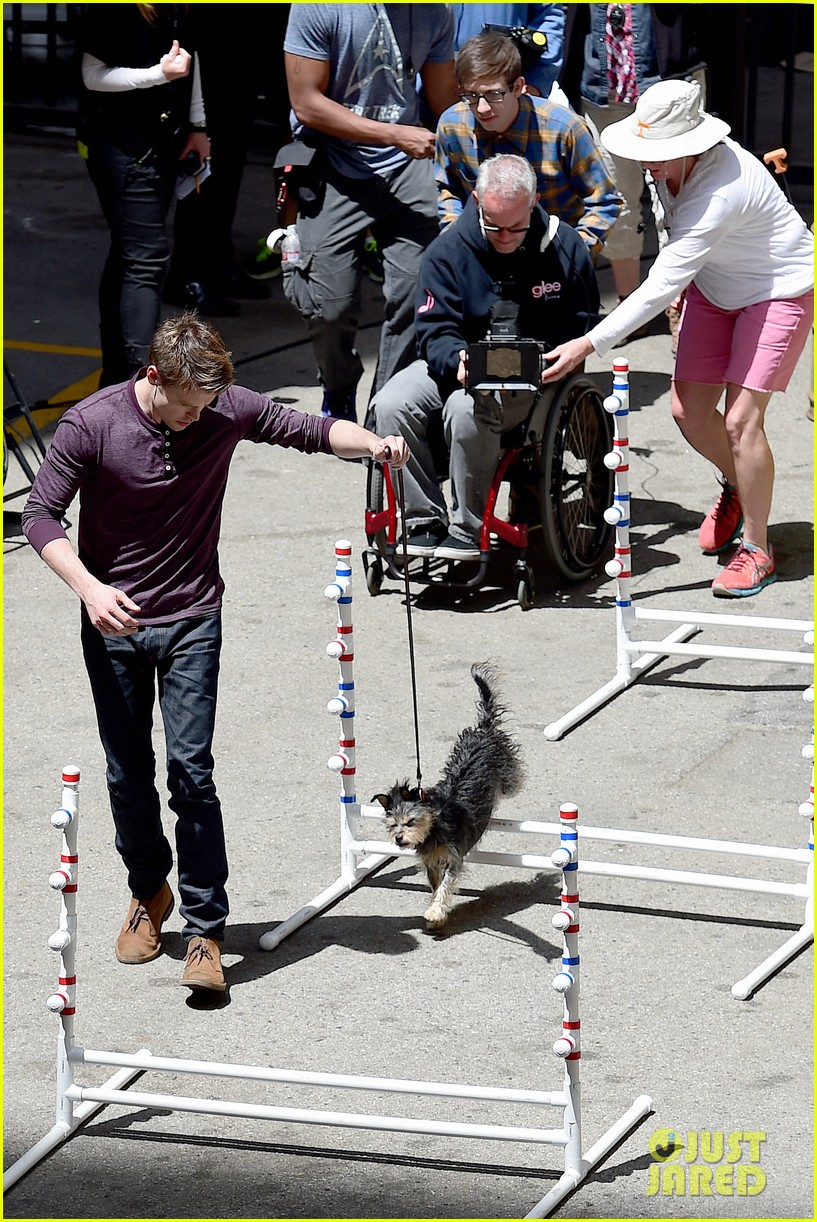 chord overstreet dotes on a dog its really cute 13