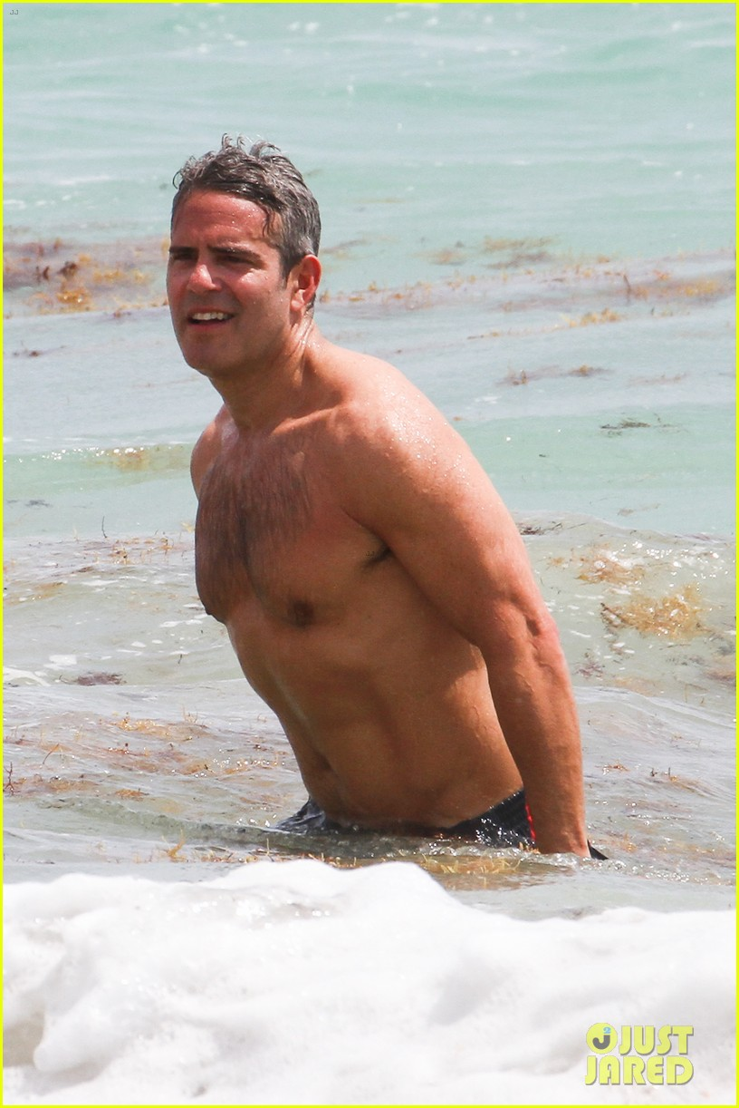 andy cohen shirtless uses tinder 083084792