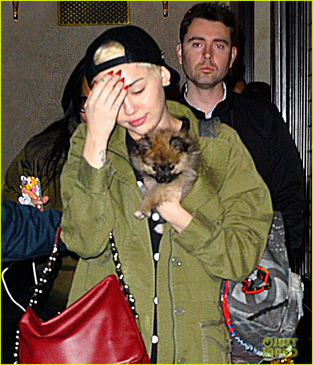 miley cyrus torn about new pup moonie after floyds death 013086227
