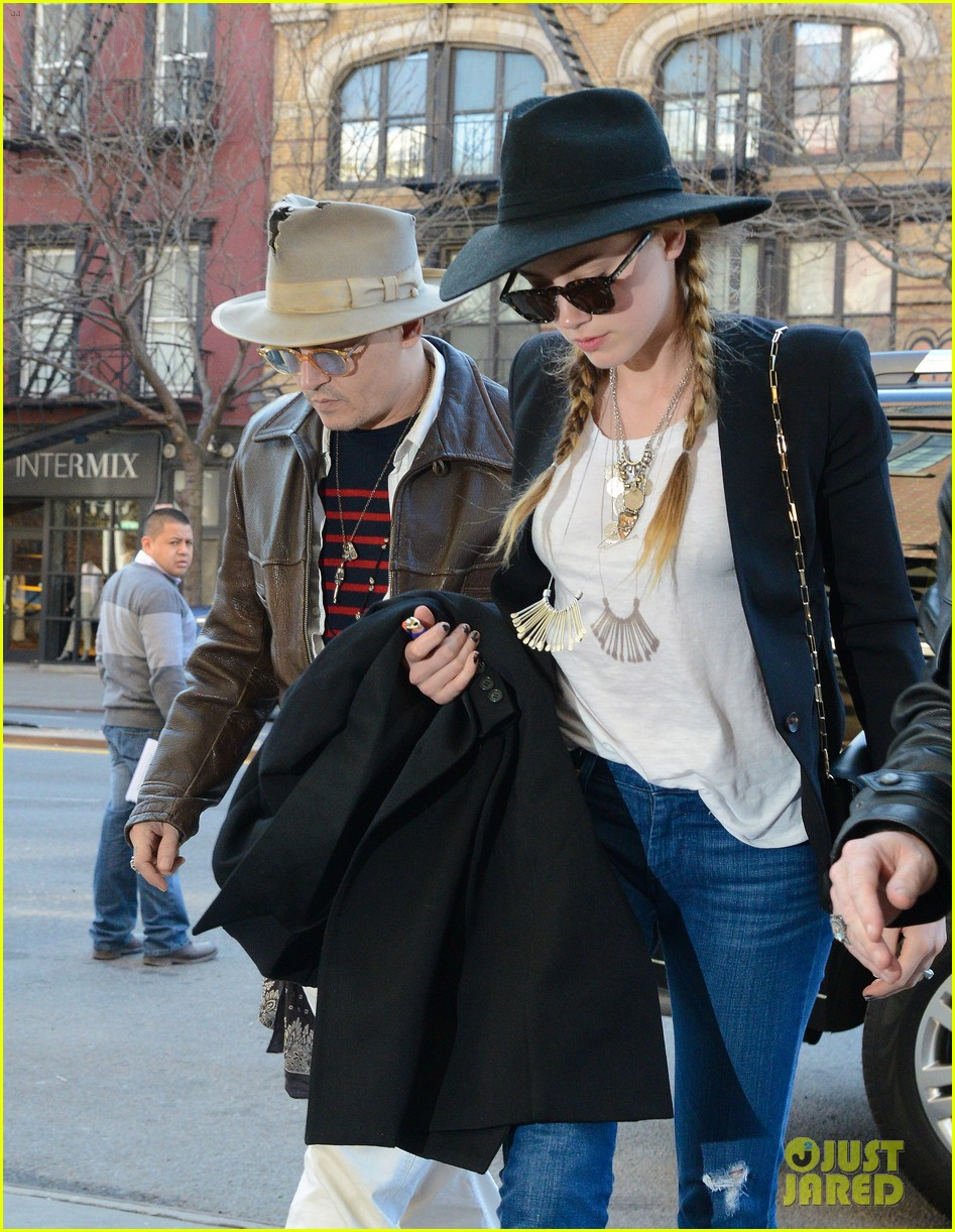 johnny depp amber heard step out together new york 043096350