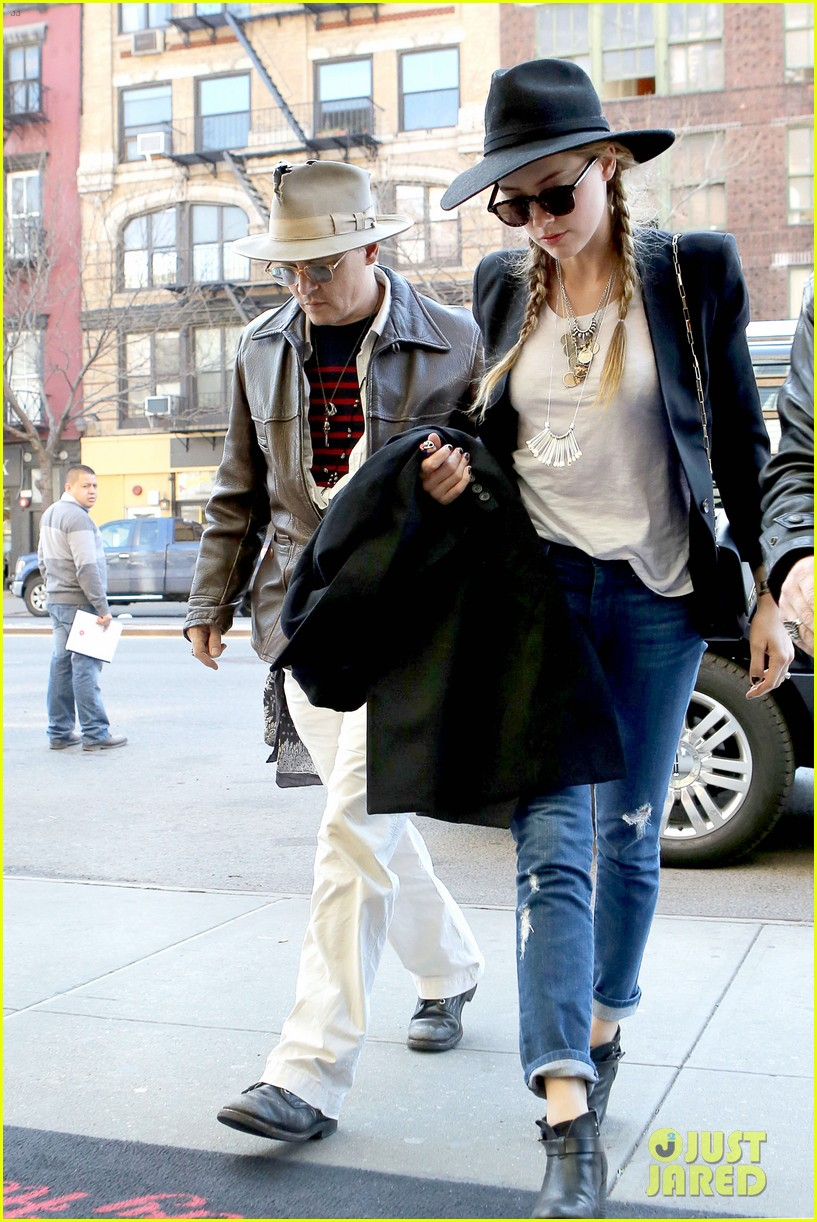 johnny depp amber heard step out together new york 083096354