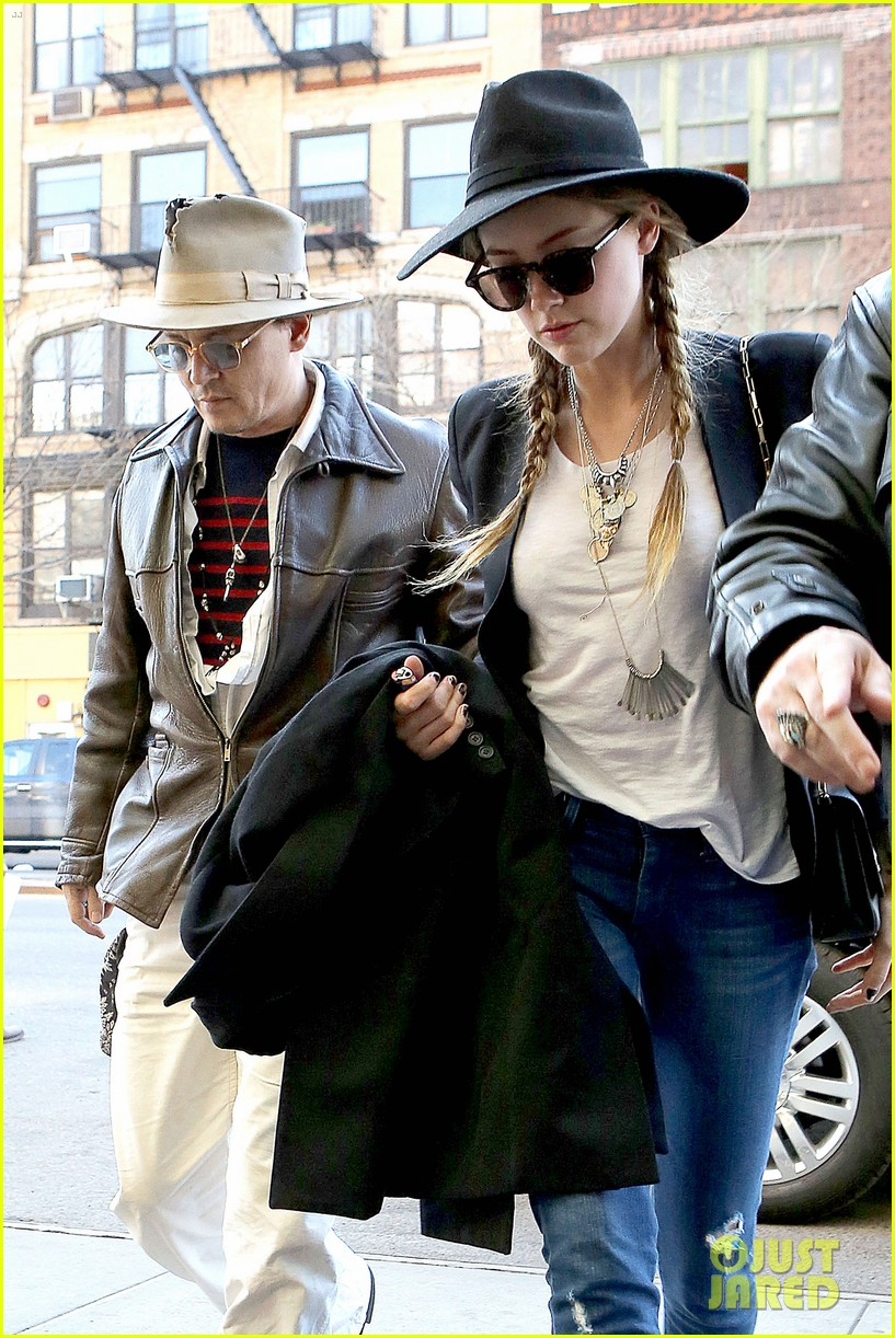 johnny depp amber heard step out together new york 093096355