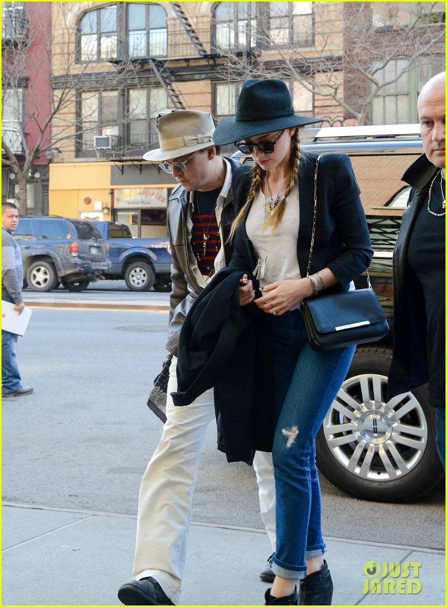 johnny depp amber heard step out together new york 153096361