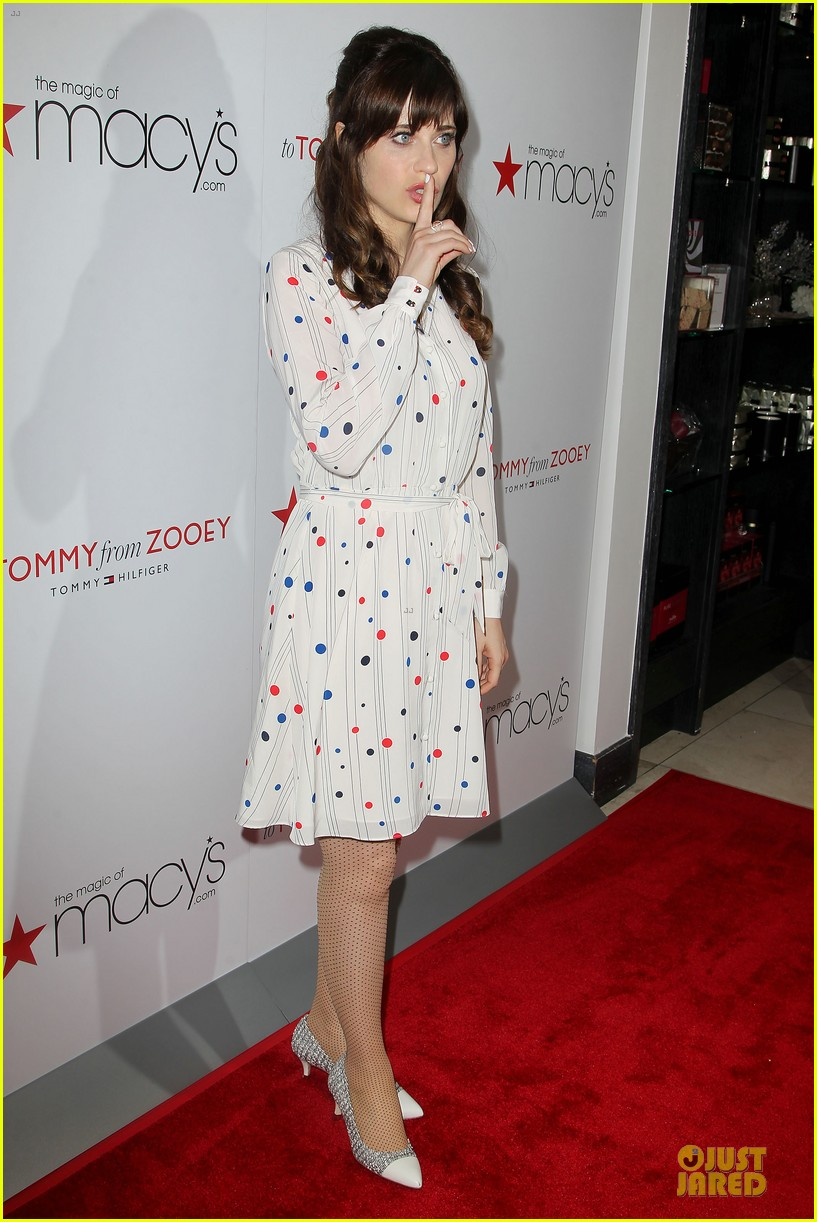 zooey deschanel tommy hilfiger collection launch 033092491