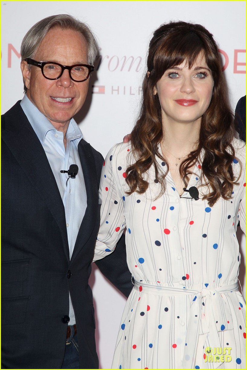 zooey deschanel tommy hilfiger collection launch 153092503
