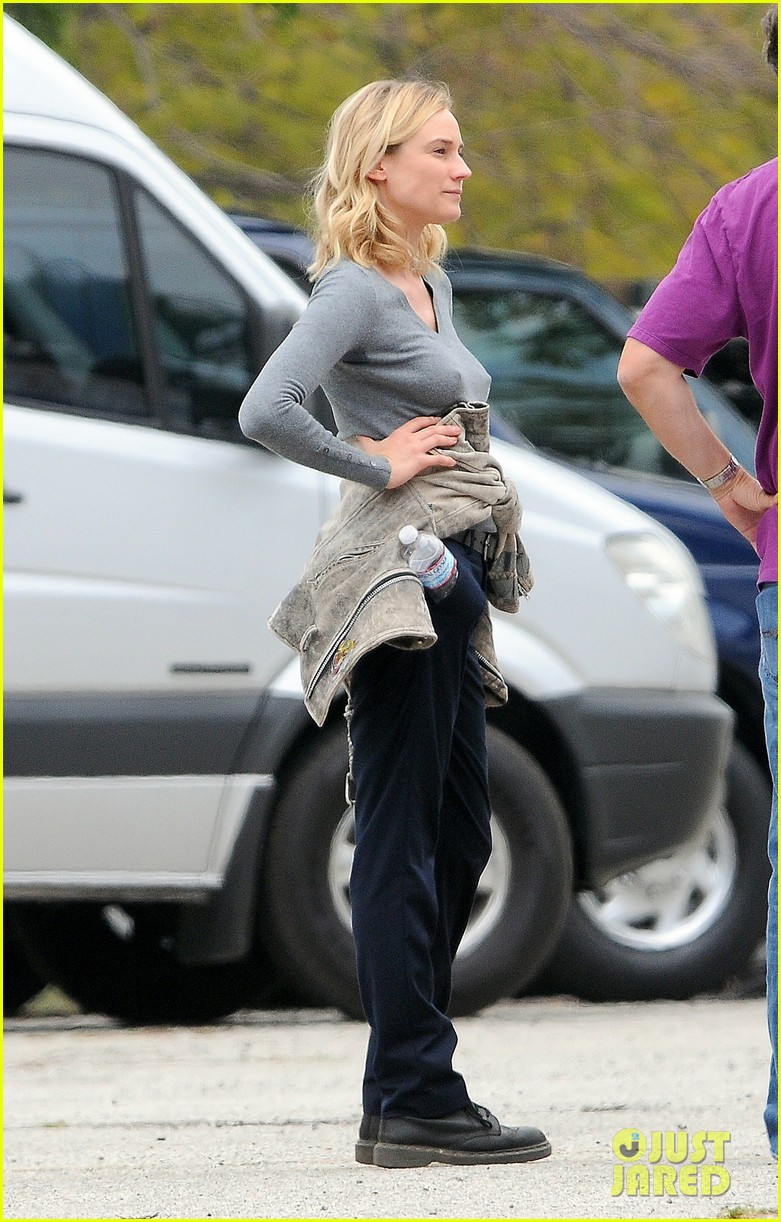 diane kruger gets direction on bridge set 113094510