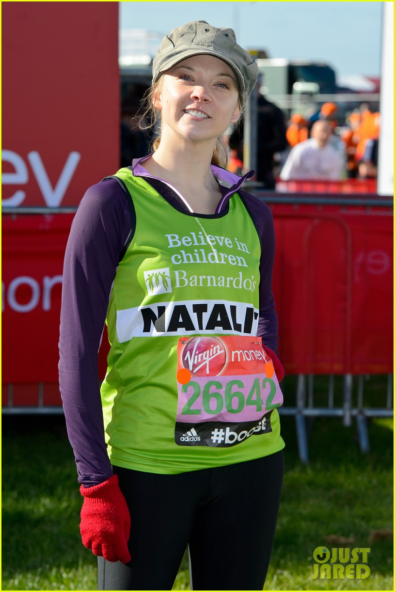 natalie dormer runs london marathon for charity 023090961