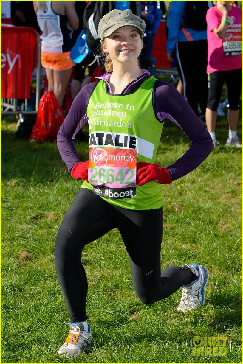 natalie dormer runs london marathon for charity 033090962