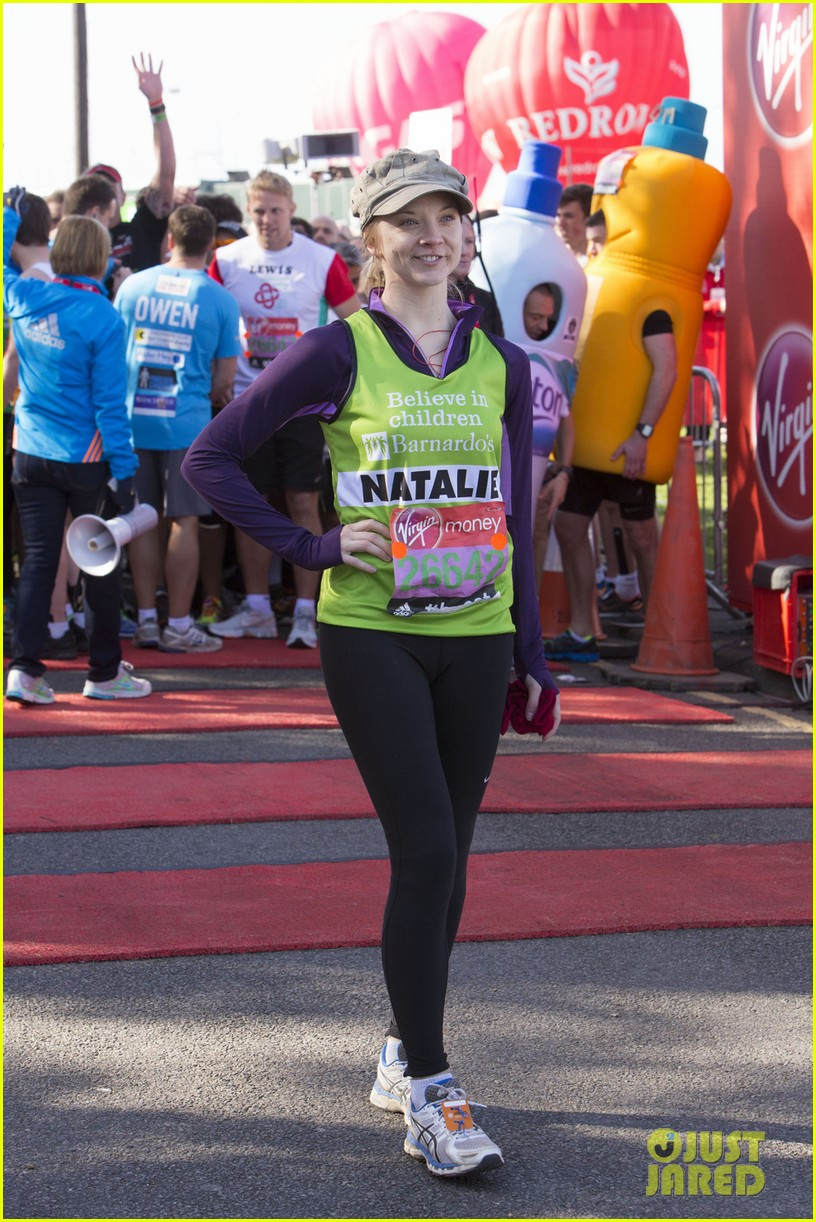natalie dormer runs london marathon for charity 063090965