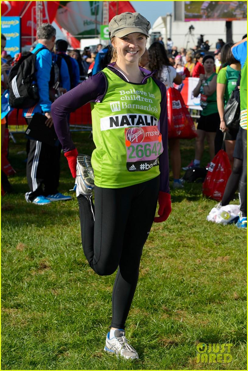 natalie dormer runs london marathon for charity 083090967