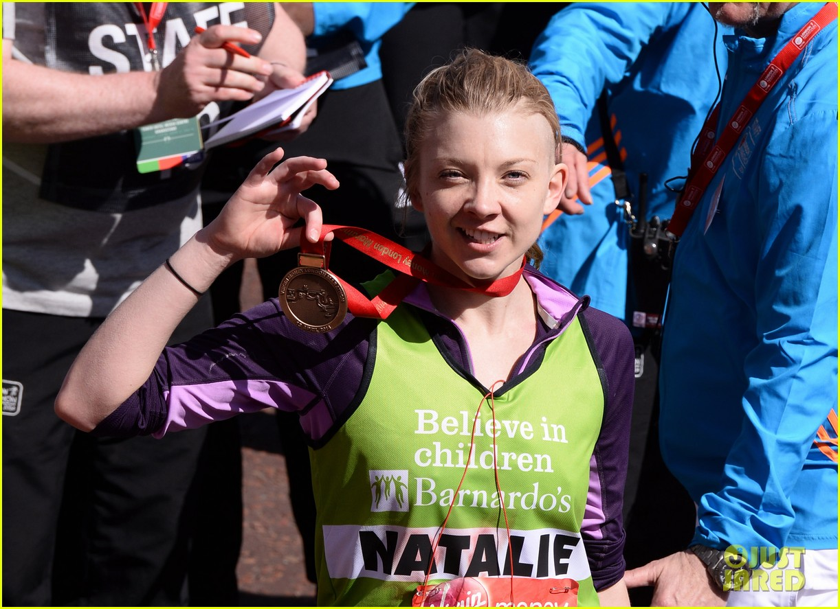 natalie dormer runs london marathon for charity 113090970