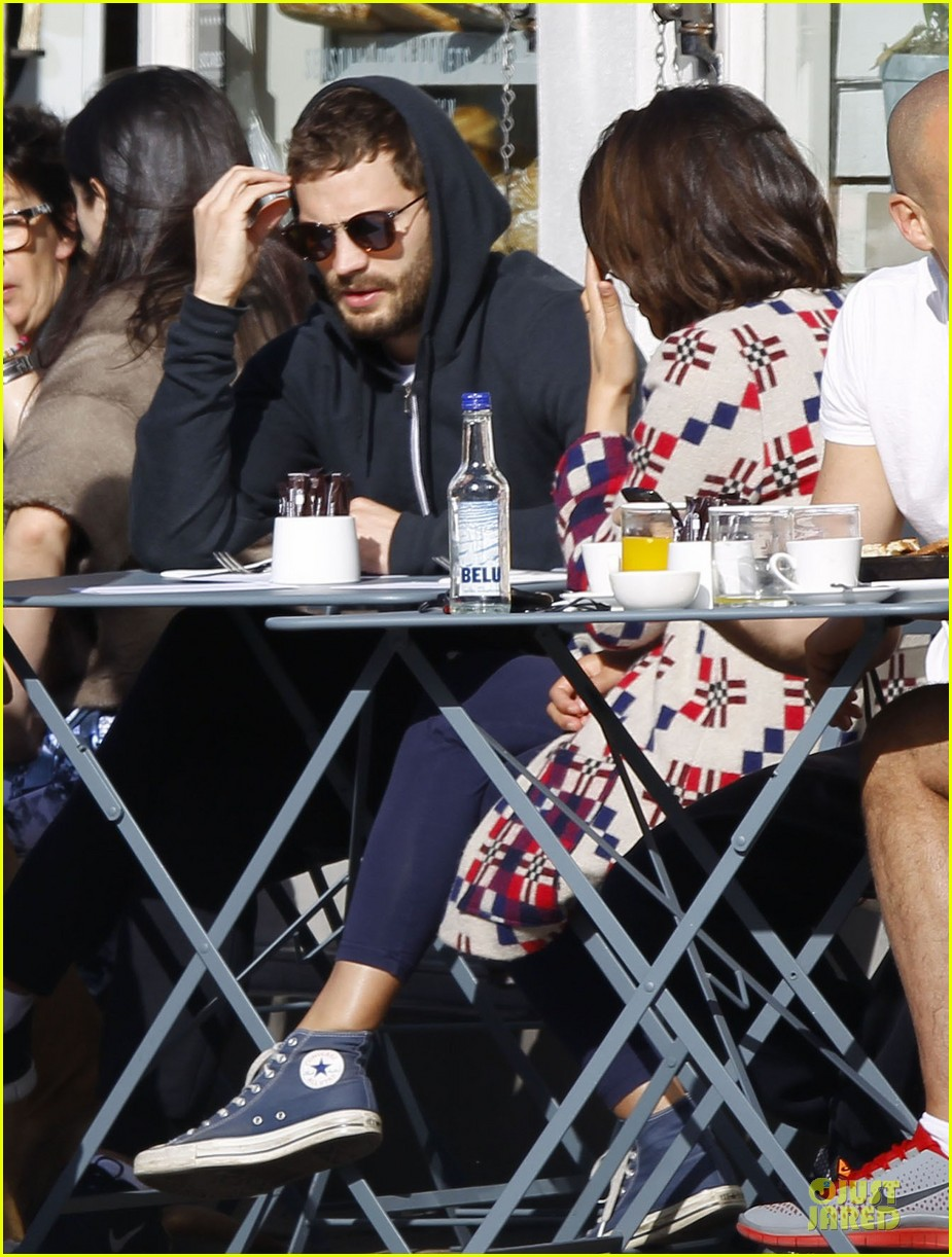 jamie dornan start good friday with breakfast 023095023