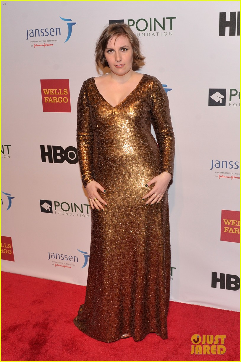 lena dunham andrew rannells share kiss at point honors new york gala 013086786