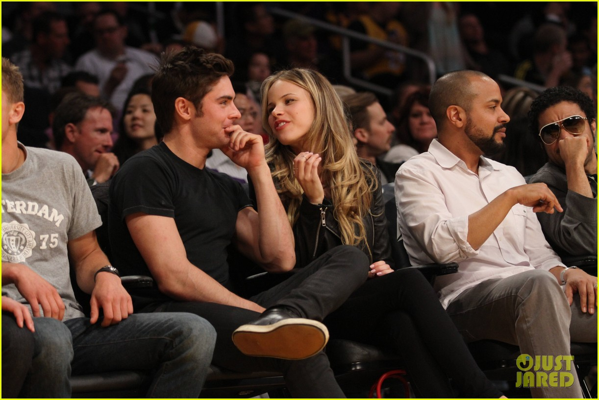 zac efron halston sage lakers game 12