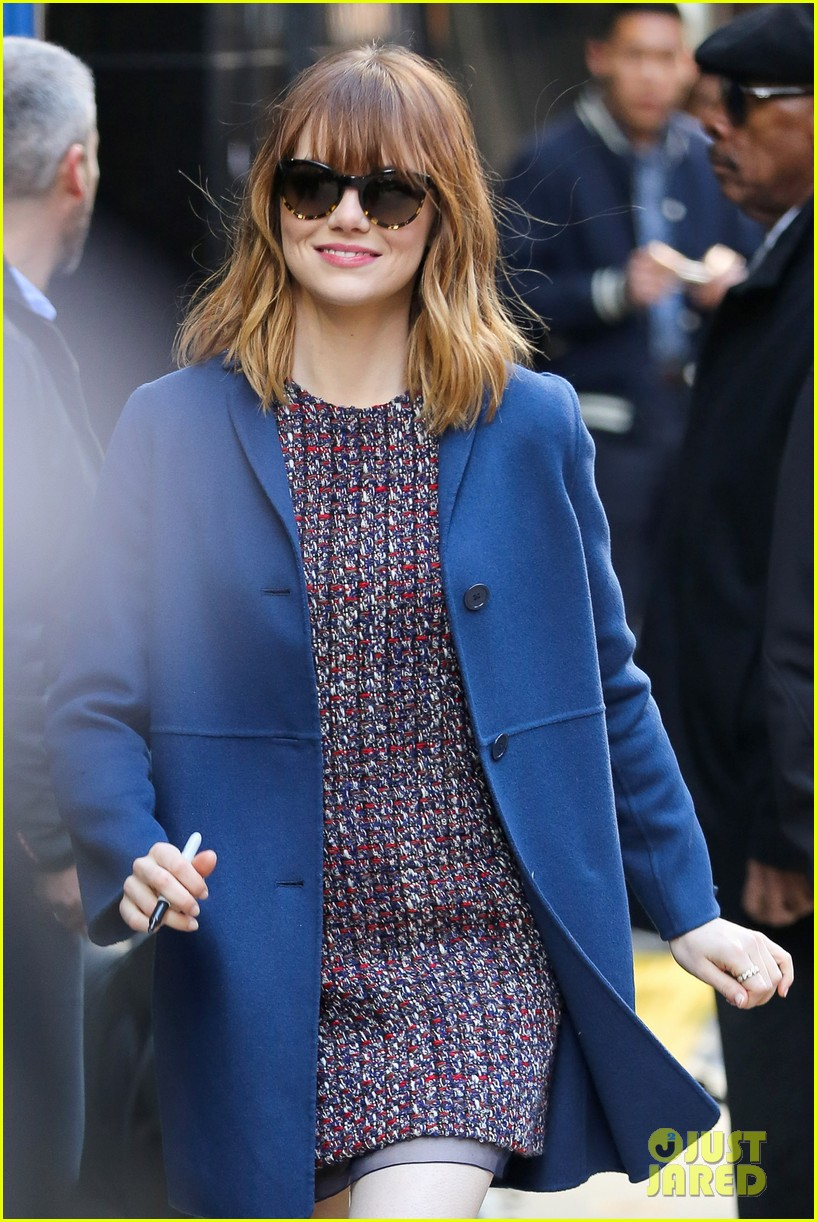 emma stone andrew garfield join amazing spider man 2 cast at gma 083098196