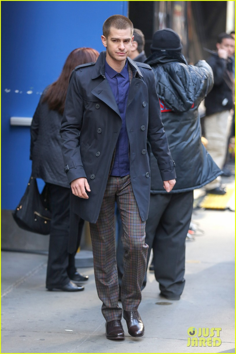 emma stone andrew garfield join amazing spider man 2 cast at gma 143098202