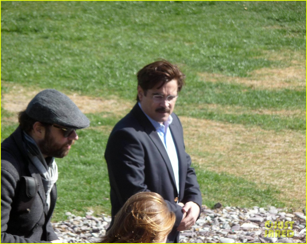 colin farrell is virtually unrecognizable with large belly mustache for lobster 043092731