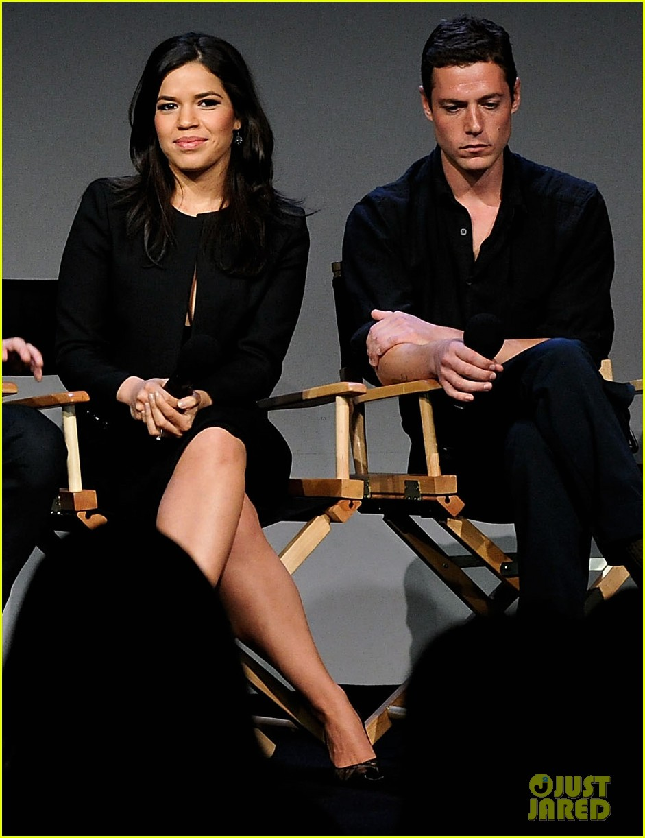 america ferrera husband ryan piers williams meet the actors session in nyc 033098142