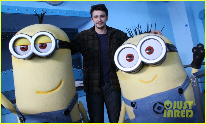 james franco is first in line for despicable me minion mayhem ride 023087635