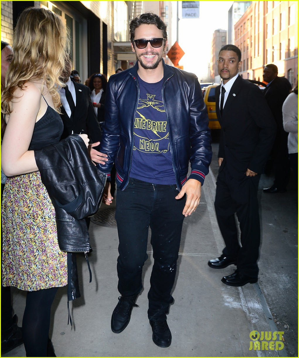 james franco is the happiest guy opening his art exhibition at pace gallery 013089074